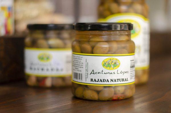 Aceitunas López Rajada Natural. Artdemans